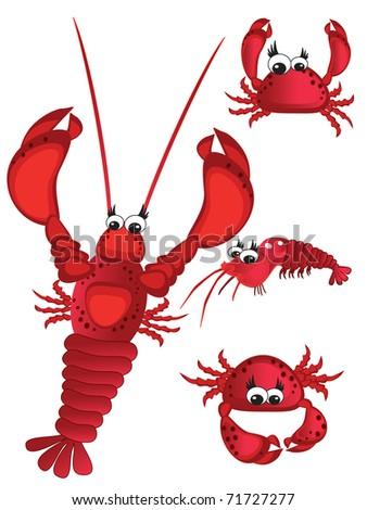 Sea food ,vector - stock vector