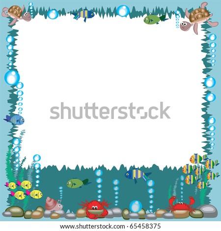Sea frame - stock vector