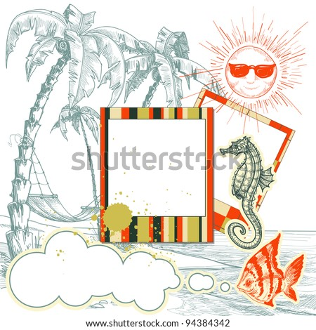 Sea holiday layout vector illustration