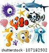 sea-life animals - stock