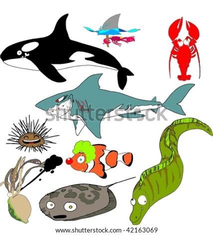 Sea Life II - stock vector