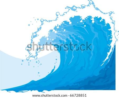 sea (ocean) wave - stock vector