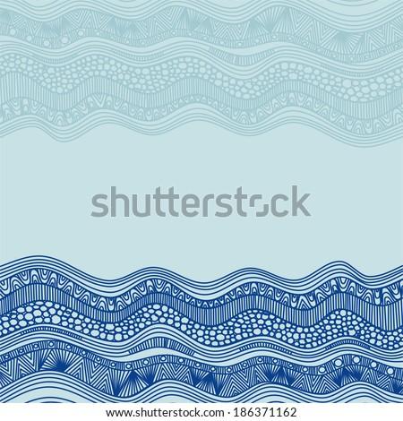 Sea pattern vector illustration - stock vector