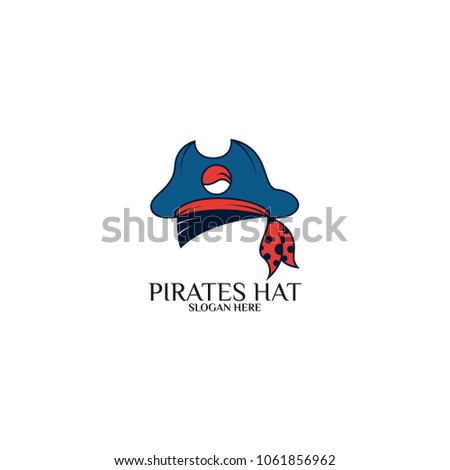 sea pirates logo template design vector stock vector 1061856962