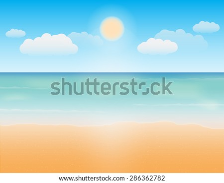 sea sand and bright sky vector