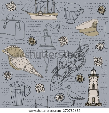 sea. seamless - stock vector