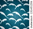 Sea seamless pattern - stock photo