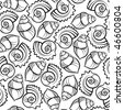Sea shell seamless pattern - stock vector