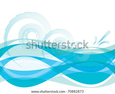 Sea Spray - stock vector