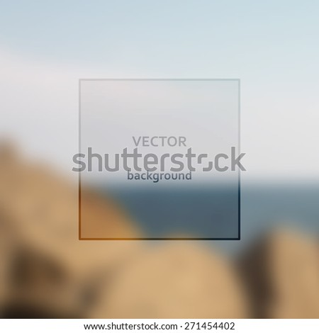 Sea. Vector art. Illustration of soft colored abstract background.  - stock vector