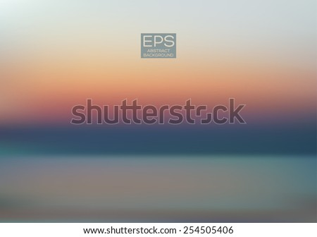Sea. Vector art. Illustration of soft colored abstract background. Web and mobile interface template. Travel corporate website design. Minimalistic backdrop.Editable. Blurred. Landscape. Light rays - stock vector