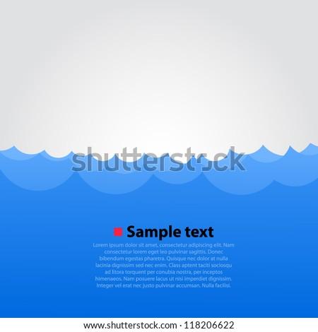 Sea wave background, Summer beach, Vector illustration - stock vector