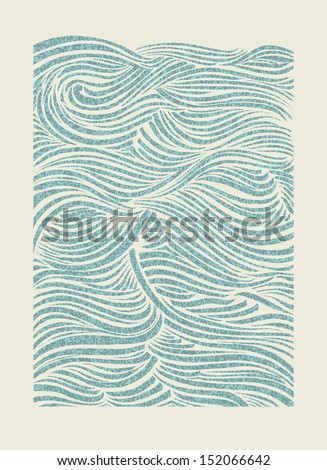 Sea waves pattern. EPS Vector file. - stock vector
