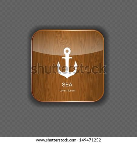 Sea wood  application icons vector illustration - stock vector