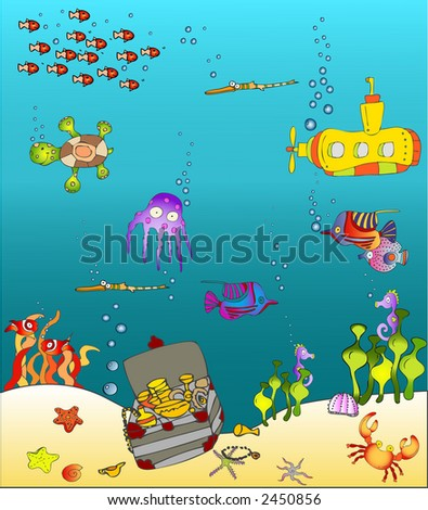 sea world - stock vector