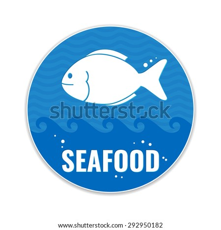 Seafood restaurant Label. Seafood market concept. Vector illustration. - stock vector