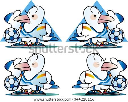 seagull mascot - stock vector