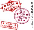 Seal of approval. Rubber stamp vectors - stock vector