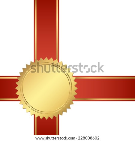 seal of quality template with ribbons vector