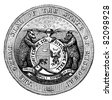 Seal of the State of Missouri, vintage engraved illustration.  Trousset encyclopedia (1886 - 1891). - stock vector