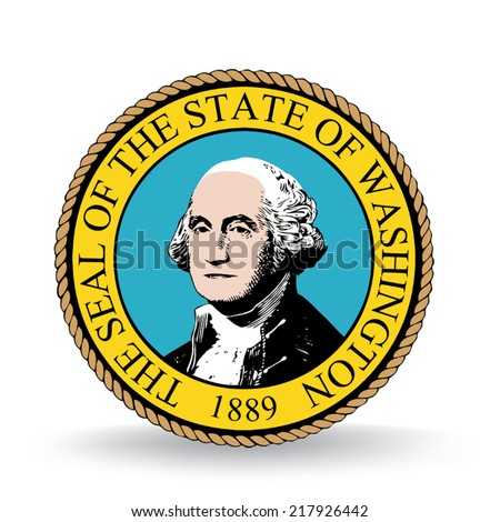 Seal Of The State Of Washington - stock vector