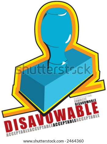 seal, signet, disavowable, acceptable - stock vector