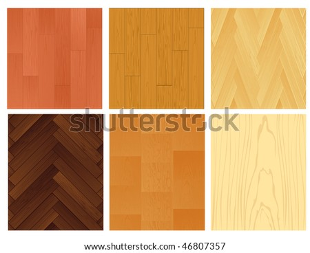 Seamle wooden backgrounds, vector illustration - stock vector