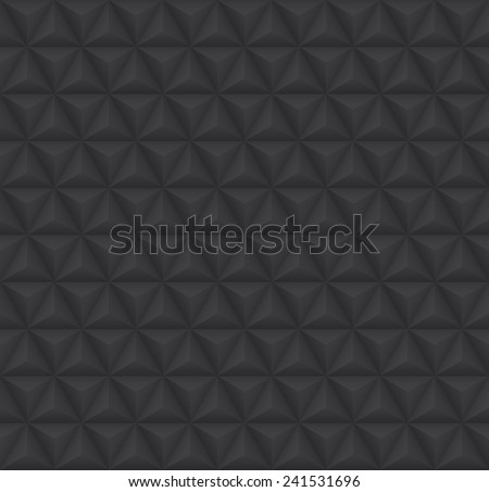 Seamless abstract background. 3D vector triangle pattern geometry.