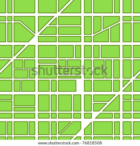 Seamless abstract background of roads - stock vector