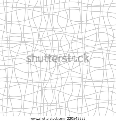 Seamless abstract background of wavy lines. Vector pattern on white background