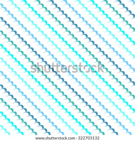 Seamless abstract background pattern with repeating blue waves. Vector illustration eps 10 - stock vector