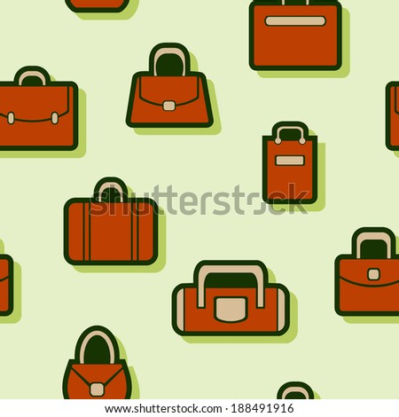 seamless abstract background with bags