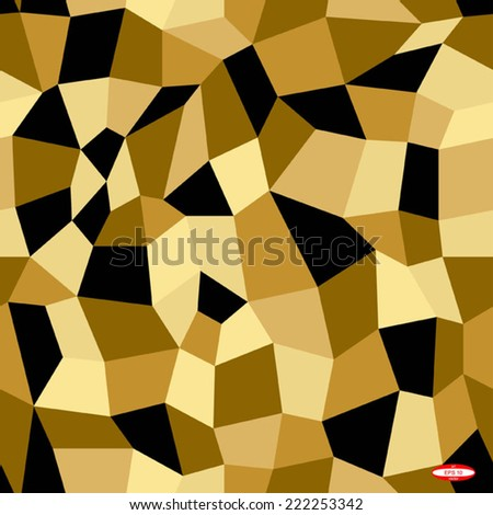 seamless abstract black beige sand pattern with tetrahedron vector