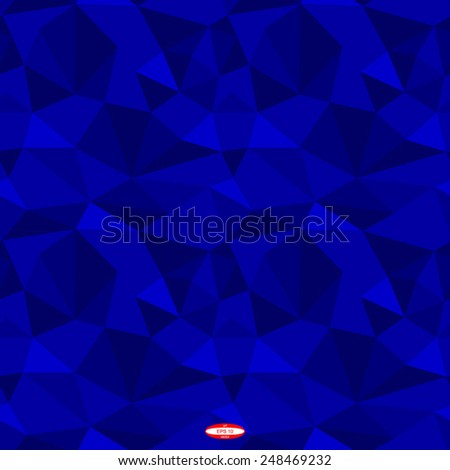 seamless abstract blue pattern navy texture abstract navy line on blue background with triangle vector - stock vector