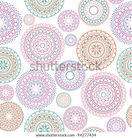seamless abstract decorative background - stock vector