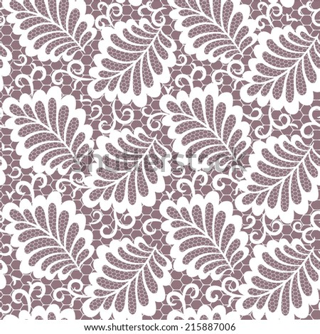 seamless  abstract  floral   background with lace leaves - stock vector