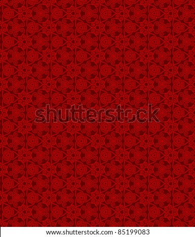 seamless abstract floral pattern background - stock vector