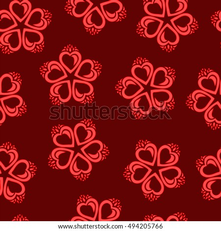 Seamless abstract floral pattern. Vector illustration.