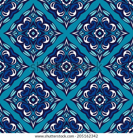 seamless abstract floral vector geometric background pattern