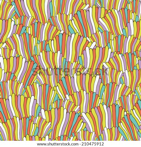 Seamless abstract hand drawn pattern. Vector image. Retro background.  - stock vector