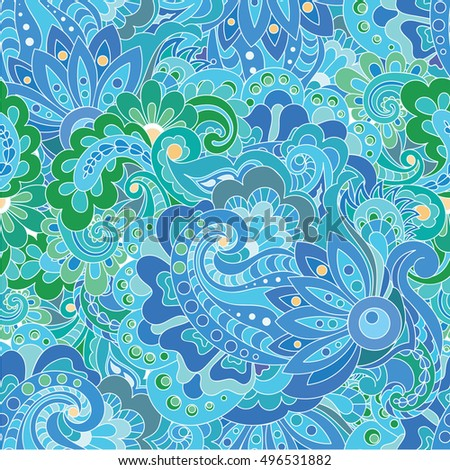 Seamless abstract hand-drawn waves pattern. Seamless pattern can be used for wallpaper, pattern fills, web page background,surface textures.