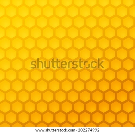 Seamless abstract honeycomb pattern (vector) - stock vector