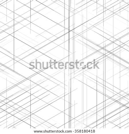 Seamless abstract isometric computer generated 3 d stock vector seamless abstract isometric computer generated 3d blueprint visualization lines background vector illustration for break through malvernweather Gallery