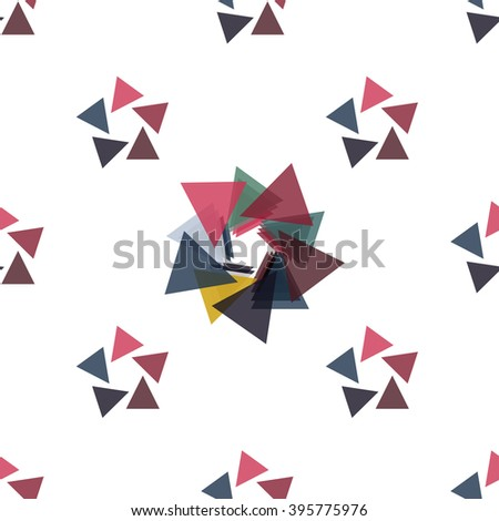 Seamless abstract modern pattern created from repetitive triangles - stock vector