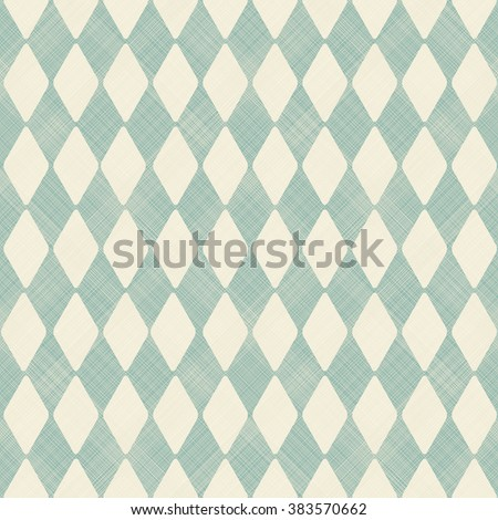 seamless abstract pattern in turquoise and beige - stock vector