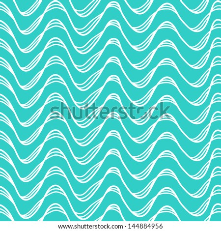 Seamless abstract pattern, waves, vector