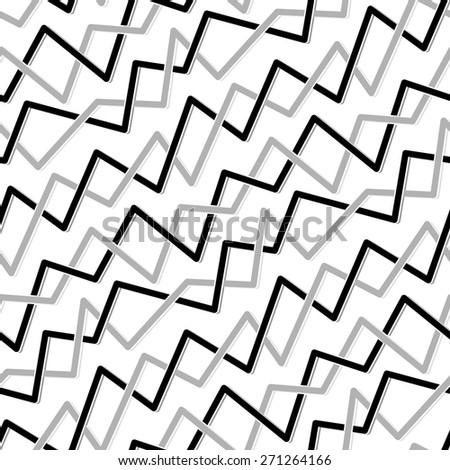 Seamless abstract pattern with black and grey lines on white