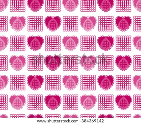 Seamless abstract pattern with lacy hearts. Vector illustration.