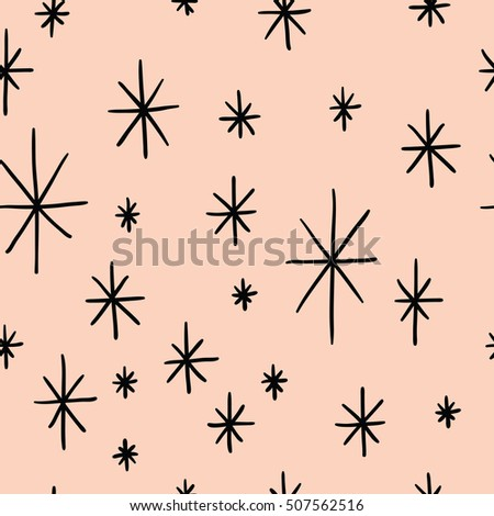 Seamless abstract pattern with snowflakes for winter holidays design