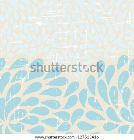 Seamless abstract retro drops pattern. - stock vector